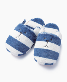 NAVY BORDER SLOTH SLIPPER