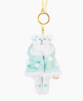 Fluffy SLOTH KEY RING