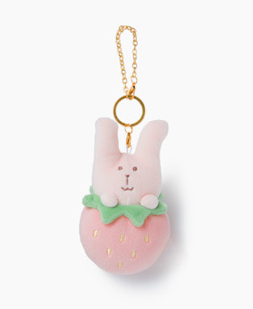 STRAWBERRY RAB KEY RING
