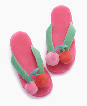 CHERRY RAB SLOTH FLIP FLOPS