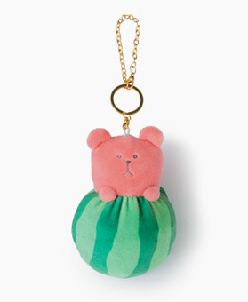 WATERMELON SLOTH KEY RING