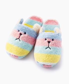 COLORFUL BORDER SLOTH SLIPPER