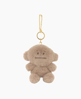 STUFFED BROWN LORIS KEY RING